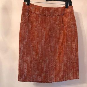 J. Crew linen blend skirt.